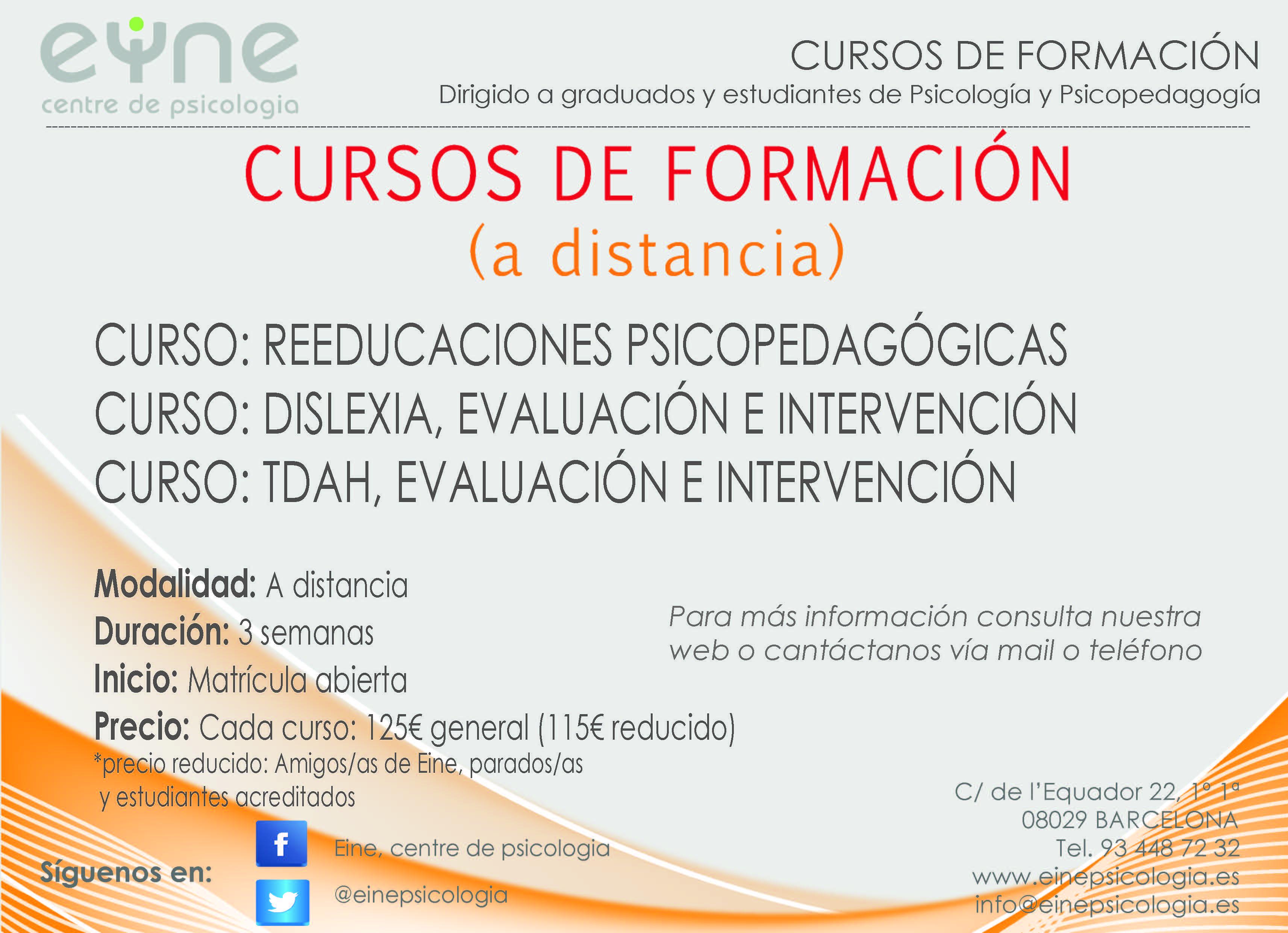 Formaci n eine centre de psicologia for Curso de interiorismo a distancia