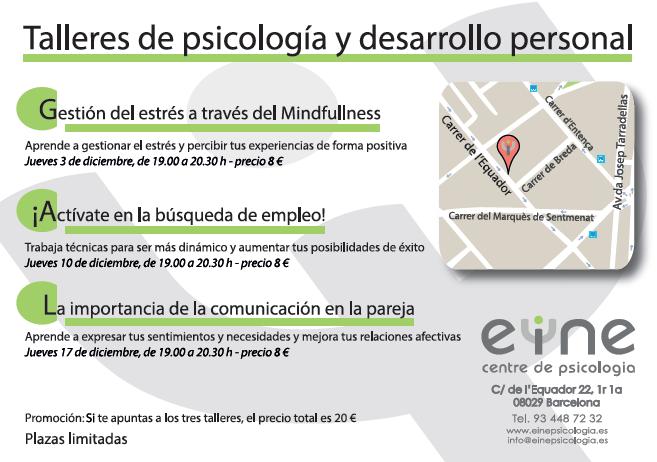 TALLERES DE PSICOLOGÍA Y DESARROLLO PERSONAL